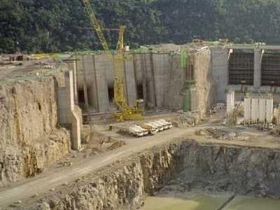 Campos Novos Dam Construction