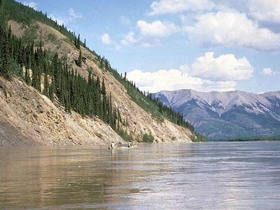 Canoeing Yukon River