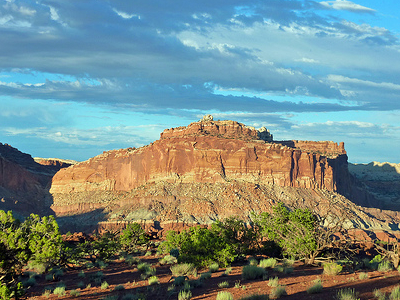 Capitol Reef Vista From Sunset Point