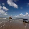 Car Driving At Beach