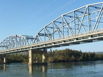 Carmacs  Bridge Across  Yukon  River