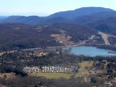 Caryville With Cove Lake State Park In The Background