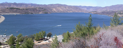 Castaic Dam Photographed
