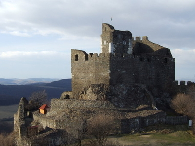 Castle Of  Holloko With  Panorama
