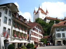 Castle Thun Over City Hall Square