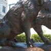 Cast Metal Statue Of Wild Boar