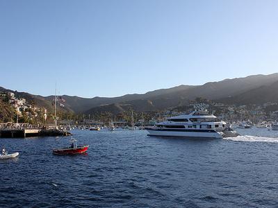Catalina Ferry At Catalina Island