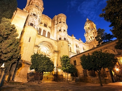 Cathedral Of Malaga In Spain