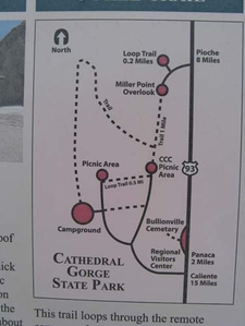 Catherdal Gorge Map