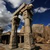 Caved Pillars Near Rock