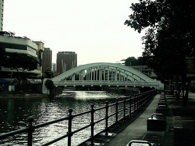 Cavenagh Bridge Over Singapore River