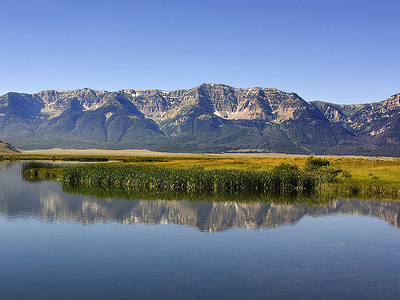 Centennial Mountains Bordering Red Rock Lakes