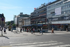 Central Turku Road View In Finland
