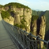 Chain Bridge Mountains Zhejiang