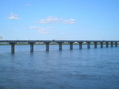 Champlain Bridge Over Saint Lawrence