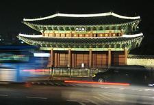Changdeokgung Palace Gate At Night