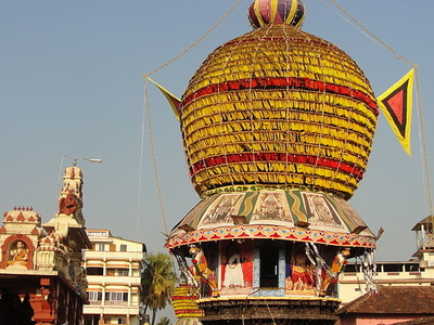 Chariot In Front Of Sri Krishna Temple