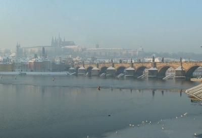 Wintertime View Of The Bridge