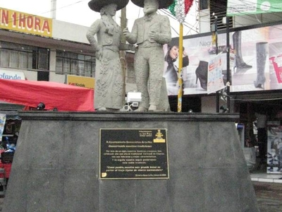 Statue Dedicated To Charros In The Plaza