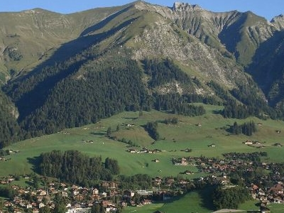 Chateau-d\'Oex And The Surrounding Mountains