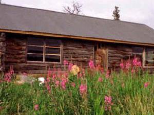 Chelle Lake cabina y pista de aterrizaje
