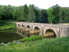 Chiny St Nicholass Bridge On The River Semois