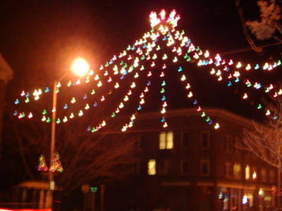 Christmas Display On Depot Street In Downtown Lyndonville
