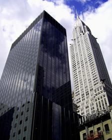 Chrysler Building Next To The Calyon Building