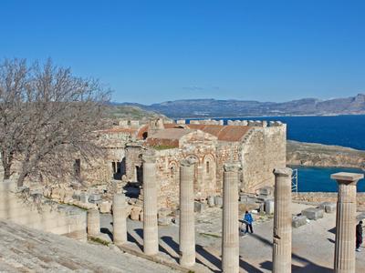 Church At The Acropolis Of Lindos