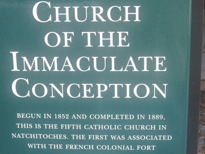 Church Of The  Immaculate  Conception Sign In  Natchitoches