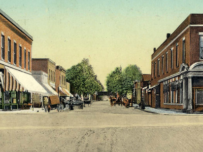 Church  Street  2 C Looking  South In  Amherst  2 C  Ohio  2 C