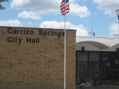 City  Hall In  Carrizo  Springs