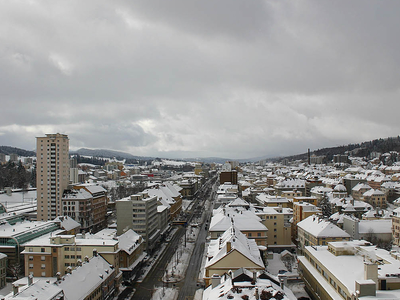 City Of La Chaux De Fonds In Winter