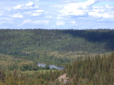 Clearwater River Valley From Highway
