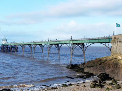 Clevedon  Pier From Beach