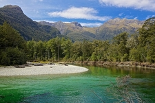 Clinton River Valley In Fiordland National Park NZ