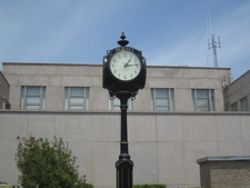 Clock At Burnet Coutny Courthouse