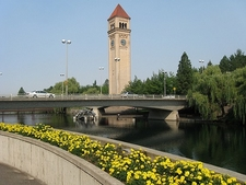 Clock Tower At Spokane Riverfront Park WA