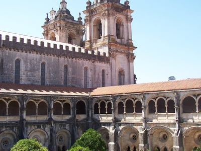 Cloister And Church Of The Alcobaca Monastery