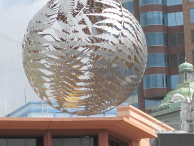 Close-up Of Spherical Sculpture