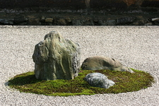 Close-up Of The Stone Garden In Ryoanji Temple