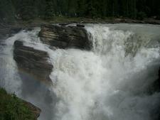 Closeup Of Athabasca Falls