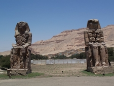 Amenhotep III's Sitting Colossi