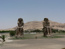 Colossi Of Memnon Landscape In Luxor