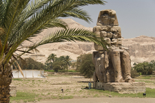 Colossi Of Memnon Site In Luxor
