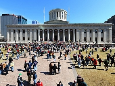 Columbus Ohio Statehouse Protesters