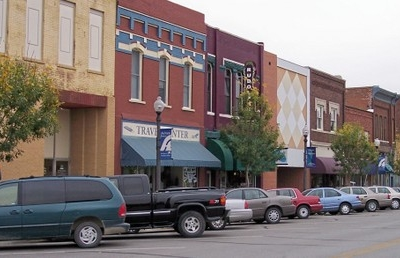 Commercial Street In Downtown Atchison