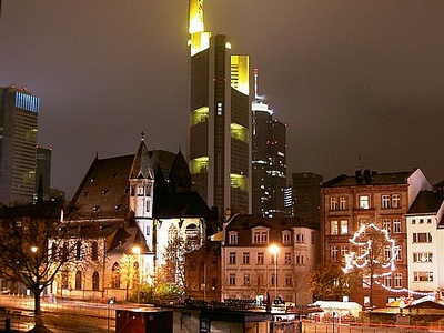 Commerzbank Tower At Night