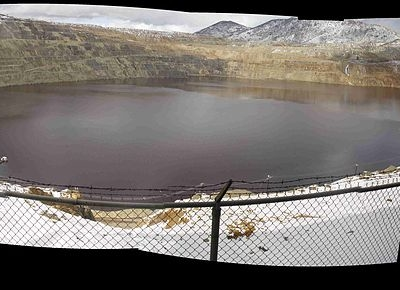 Composite Fisheye View Of The Berkeley Pit