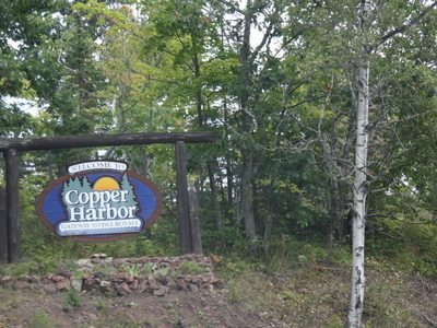Copper Harbor Welcome Sign U S